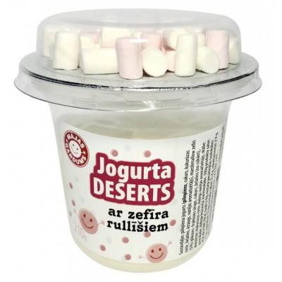 Jogurta deserts ar zefīra rullīšiem 210g