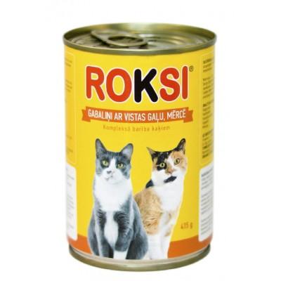 ROKSI Kaķu barība ar vistas gaļu 415g
