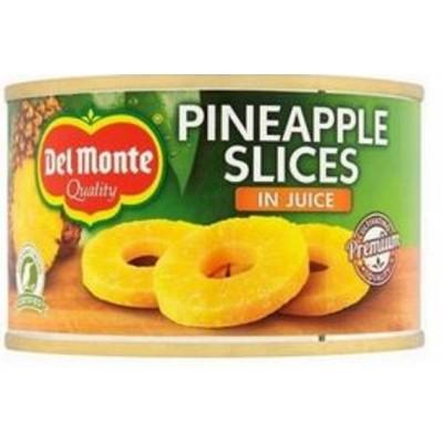 DEL MONTE Ananasi sulā šķēlēs 220g