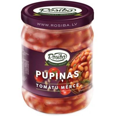 Rosība pupiņas tomātu mērcē 500g x 6 Gab.